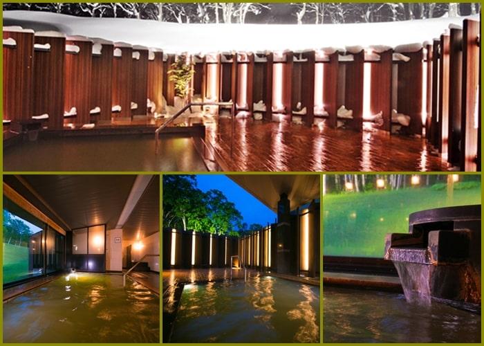 ニセコスキー場 ノーザンリゾート・アンヌプリ ホテルの温泉 露天風呂