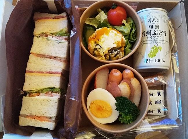 ルスツリゾート ホテルの食事 弁当 朝食 コロナウイルス対策 サンドイッチ